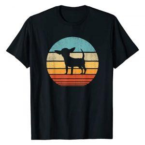 Chihuahua DU Clothing Graphic Tshirt 1 Chihuahua Vintage Silhouette 60s 70s Retro Gifts Dog Lover T-Shirt