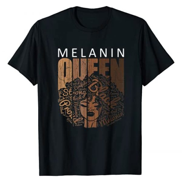 Black Queen Clothing RobustCreative Tees Graphic Tshirt 1 Afro Melanin Queen Tee Strong Black Natural African American T-Shirt