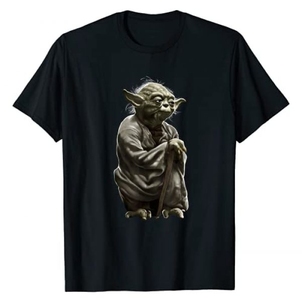 Star Wars Graphic Tshirt 1 Yoda Crouching Portrait Graphic T-Shirt T-Shirt