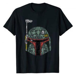 Star Wars Graphic Tshirt 1 Boba Fett Silhouette Helmet Fill Graphic T-Shirt T-Shirt