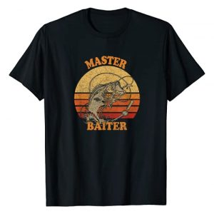Bass Fishing Water Sport tees Graphic Tshirt 1 Master Baiter Vintage Bass Fishing Funny Camping T-Shirt