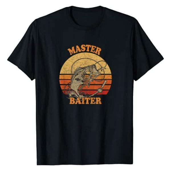 Bass Fishing Water Sport tees Graphic Tshirt 1 Master Baiter Vintage Bass Fishing Funny Camping T-Shirt