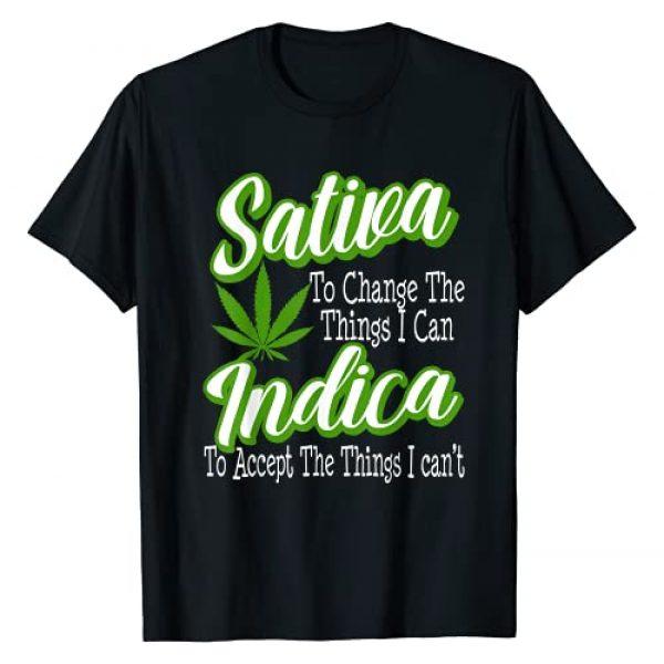 Marijuana Tees by K Graphic Tshirt 1 Funny Sativa Indica Change Marijuana Supporter Strain Gift T-Shirt