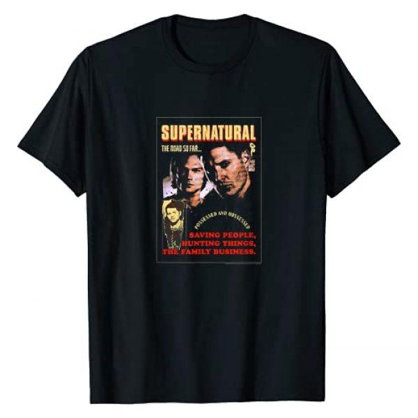 Supernatural Graphic Tshirt 1 Sam & Dean The Road So Far Poster T-Shirt