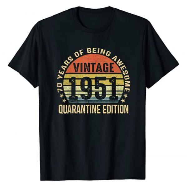 1951 Birthday 70th Quarantine Vintage Gift Graphic Tshirt 1 1951 70th Birthday 70 Years Old Quarantine Edition Vintage T-Shirt
