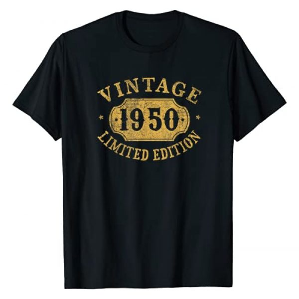 Jomqueru Birthday Tees Graphic Tshirt 1 71 years old 71st Birthday Anniversary Gift Limited 1950 T-Shirt