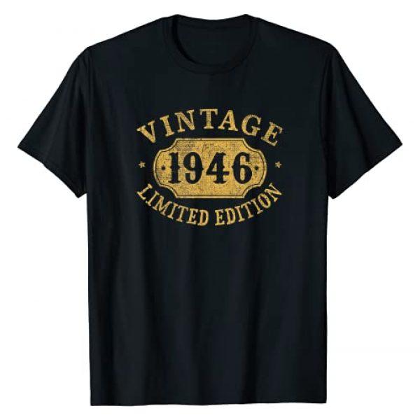 Jomqueru Birthday Aniv Limited Graphic Tshirt 1 75 years old 75th Birthday Anniversary Gift Limited 1946 T-Shirt