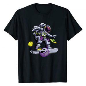 Funny one wheel t-shirts Graphic Tshirt 1 Skating astronaut on onewheel skateboard T-Shirt
