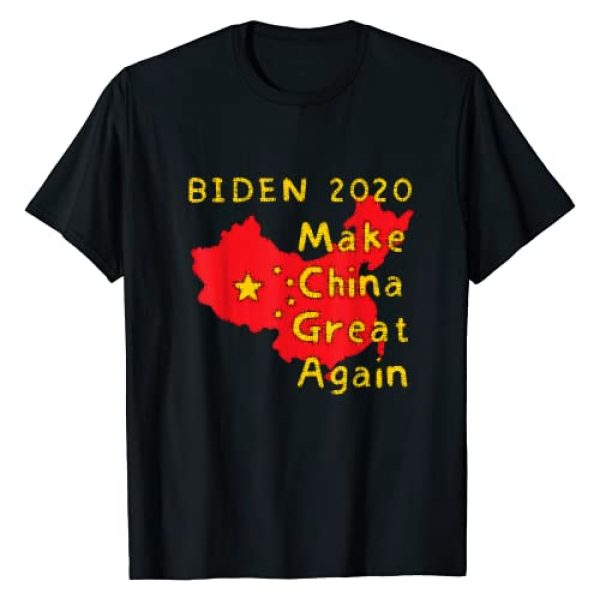 TEE POLITICAL Biden Elect Funny Gag Gifts for Men Graphic Tshirt 1 BIDEN 2020, Make China Great Again, Funny Mens T-Shirt
