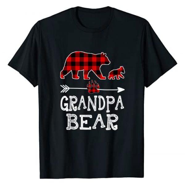 Bear One Cubs Christmas Family Gift T-Shirt Graphic Tshirt 1 Red Plaid Grandpa Bear One Cubs Matching Buffalo Pajama Xmas T-Shirt