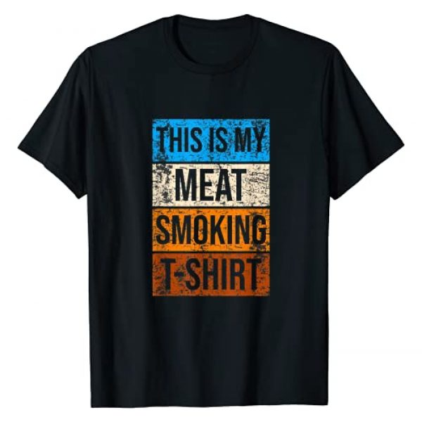 BBQ Gifts & Tees Graphic Tshirt 1 This Is My Meat Smoking BBQ T-Shirt