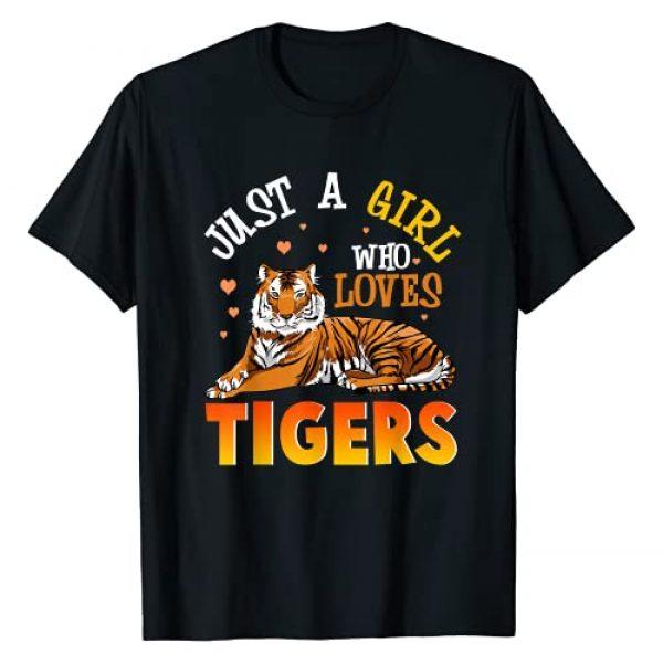 Tiger Shirt & Tees Co Graphic Tshirt 1 Just A Girl Who Loves Tigers Shirt Tiger Shirts For Girls T-Shirt