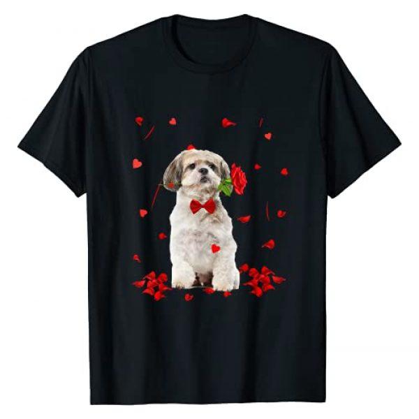 Shih Tzu Dog Puppy Valentine Day Gifts Graphic Tshirt 1 Shih Tzu Valentine's Day Outfit Dog Valentine T-Shirt