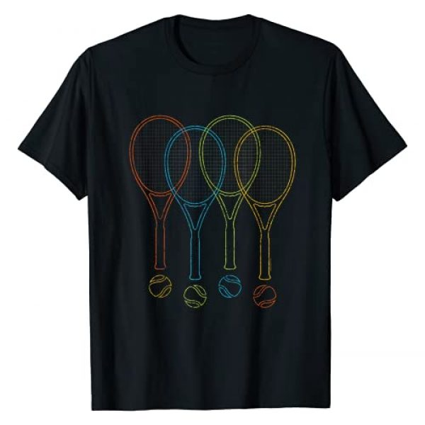 Tennis Shirts For Men, Women & Kids Graphic Tshirt 1 Tennis T Shirt Women Men Kids | Rackets & Balls Cool Tennis T-Shirt