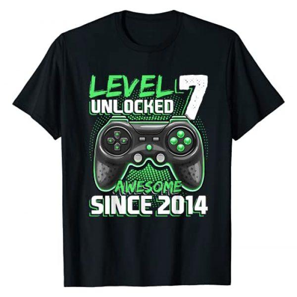 Birthday Gamer Shirts Graphic Tshirt 1 Level 7 Unlocked Awesome 2014 Video Game 7th Birthday Gift T-Shirt