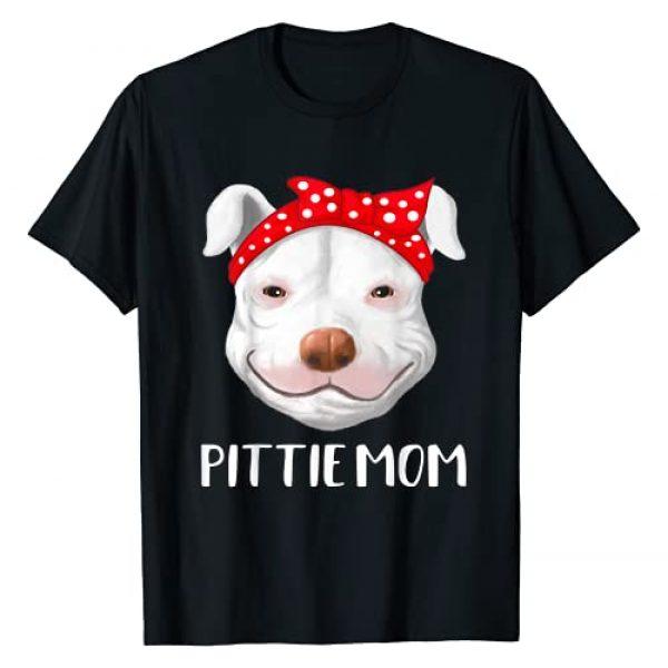 Pittie Mom and Pitbull Dad Shirts Graphic Tshirt 1 Pitbull Dog Lovers Pittie Mom Mothers Day Gift T Shirt T-Shirt
