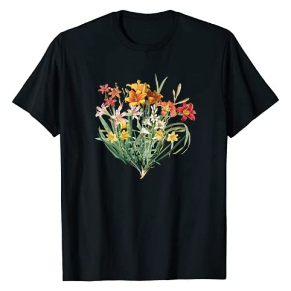 Vintage Floral Tees Graphic Tshirt 1 Variety of Lillies Graphic Flower Print Flowered T-Shirt T-Shirt