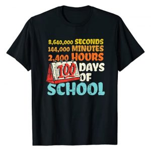 BoredKoalas 100th Day Of School Shirts Costume Graphic Tshirt 1 100 Days Of School Seconds Minutes Hours 100th Day Gift T-Shirt