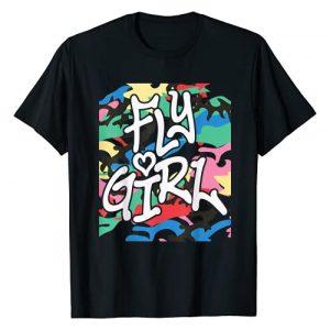 &Zoo Hip Hop Graphic Tshirt 1 Fly Girl 80s 90s Old School Camo B-Girl Hip Hop T-Shirt