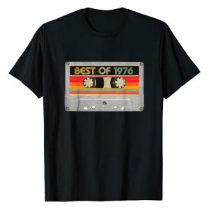 BORN Graphic Tshirt 1 Best Of 1976 45th Birthday Gifts Cassette Tape Vintage T-Shirt