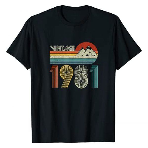 40 Years Old Awesome Gift Born in 1981 Graphic Tshirt 1 40th Birthday Vintage 1981 40 Years Old Gift for Men Women T-Shirt