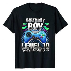 Birthday Gamer Shirts Graphic Tshirt 1 Level 10 Unlocked Video Gamer 10th Birthday Gift for Boys T-Shirt