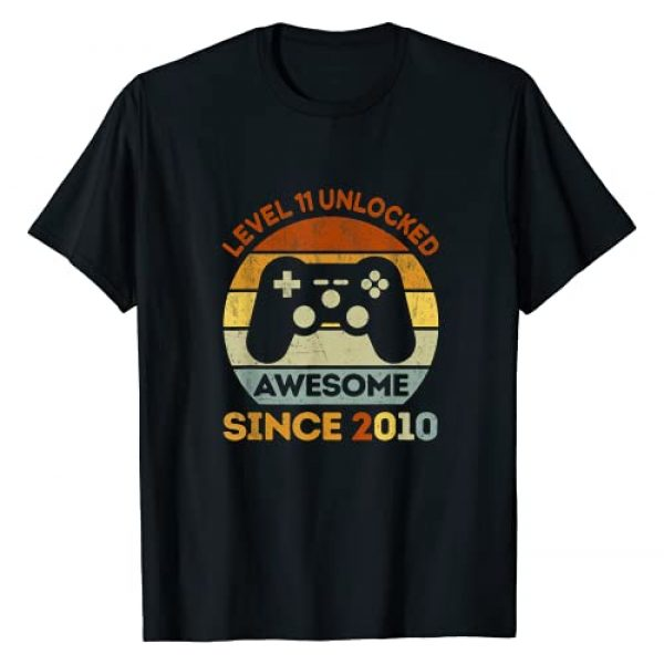 11 years old 11th Birthday Gifts Boys Girls Graphic Tshirt 1 Level 11 Unlocked Video Game 11th Birthday Born in 2010 Gift T-Shirt