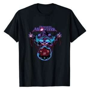 Vo Maria RPG Shirts Graphic Tshirt 1 Dungeon Meowster Funny Nerdy Gamer Cat D20 Tabletop RPG T-Shirt
