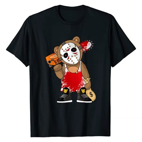 Hustle Hard Teddy Rap Gang Clothing for Men Women Graphic Tshirt 1 Hockey Teddy Bear Parody Horror 13th Hip Hop Halloween T-Shirt
