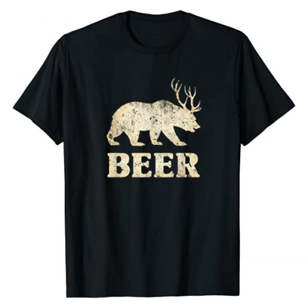 Humerus Graphic Tshirt 1 Vintage Bear Deer Funny Beer T-Shirt