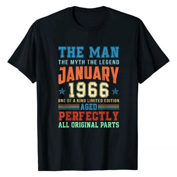 Vintage January 55th Birthday Gift Tee Graphic Tshirt 1 1966 Years Old Vintage January 1966 55th Birthday Gift T-Shirt