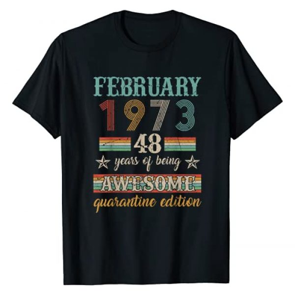 Vintage February 1973 Distressed 48 Years Old Co. Graphic Tshirt 1 48 Years Old 48th Birthday Decoration February 1973 Gift T-Shirt