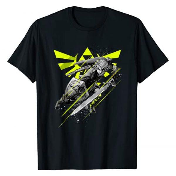 Nintendo Graphic Tshirt 1 Legend of Zelda Link Neon Green Crest Graphic T-Shirt T-Shirt