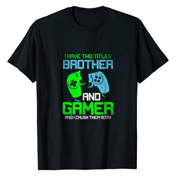 Gamer Gaming Sports Gift Graphic Tshirt 1 Gamer Boys Kids Gift Idea Video Games Lover Brother Gaming T-Shirt