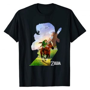 Legend of Zelda Graphic Tshirt 1 Nintendo Zelda Link Epona Ride Silhouette Graphic T-Shirt T-Shirt