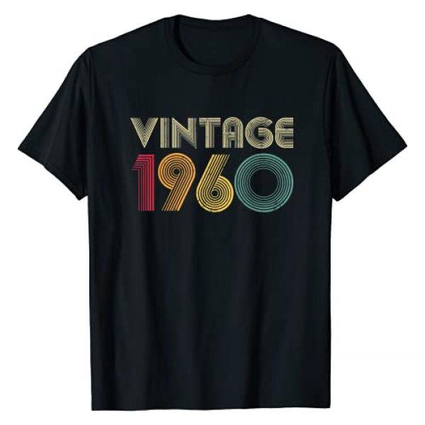 1960 Vintage Retro Birthday 60 Years Old Shirt Graphic Tshirt 1 60th Birthday Gift Vintage 1960 60 Years Old Men Women Retro T-Shirt