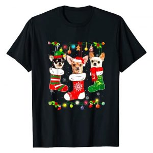 Christmas Lights Chihuahua Gift Dog Lover Graphic Tshirt 1 Chihuahua Christmas Lights Gift Funny Xmas Dog Lover T-Shirt