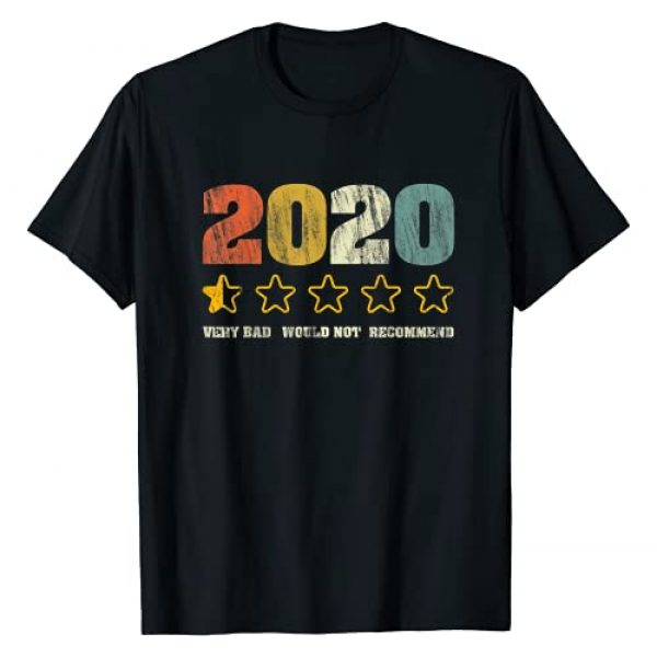 2020 Very Bad Would Not Recommend Christmas Gifts Graphic Tshirt 1 2020 Very Bad Would Not Recommend 1 star Review Vintage T-Shirt