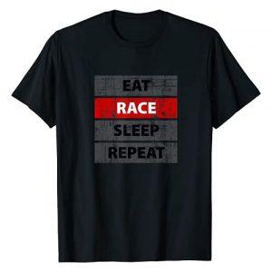 EAT RACE SLEEP REPEAT Graphic Tshirt 1 vintage retro distressed style T-Shirt