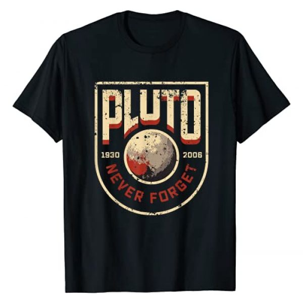 Hero Moose Graphic Tshirt 1 Pluto Never Forget Funny Retro Style, Science Space T-Shirt