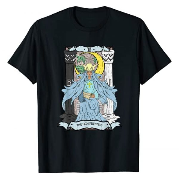 Live Love Tarot Graphic Tshirt 1 Tarot Card The High Priestess II Occult Vintage Color T-Shirt
