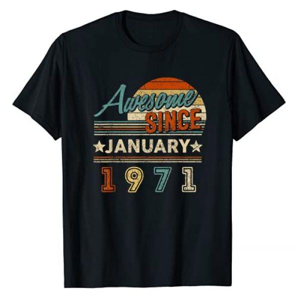 Vintage January 1971 50th Birthday Gift Shirt Graphic Tshirt 1 Legend Since January 1971 50th Quarantine Birthday Gift 50 T-Shirt
