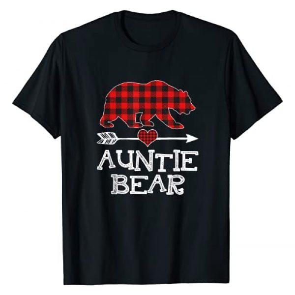 Bear Xmas Pajama Red Plaid Buffalo Family Gift Graphic Tshirt 1 Auntie Bear Christmas Pajama Red Plaid Buffalo Family Gift T-Shirt