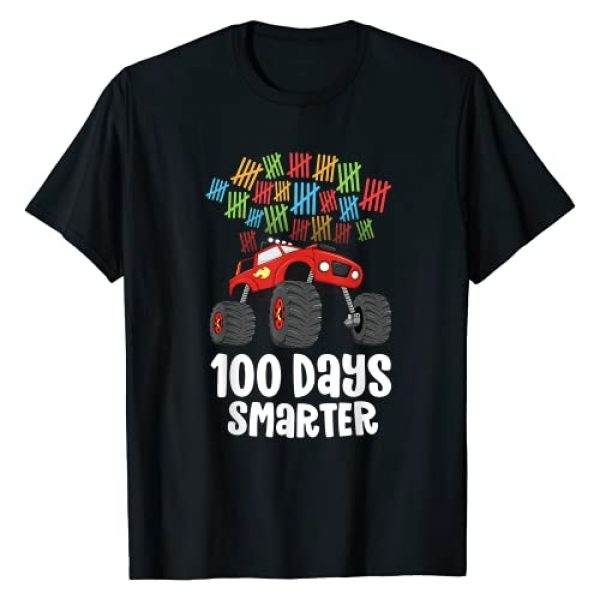 100th Day by Joy Haus Graphic Tshirt 1 Boys 100th Day of School Shirt Monster Truck 100 Smarter T-Shirt
