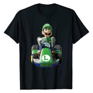 Mario Kart Graphic Tshirt 1 Nintendo Mario Kart Luigi Driving Fast Graphic T-Shirt T-Shirt