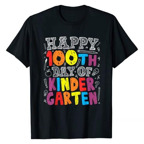 Grapheino Co. 100th Day of School Teacher Shirts Graphic Tshirt 1 100th Day of School Teacher Boys Girls 100 Days Kindergarten T-Shirt