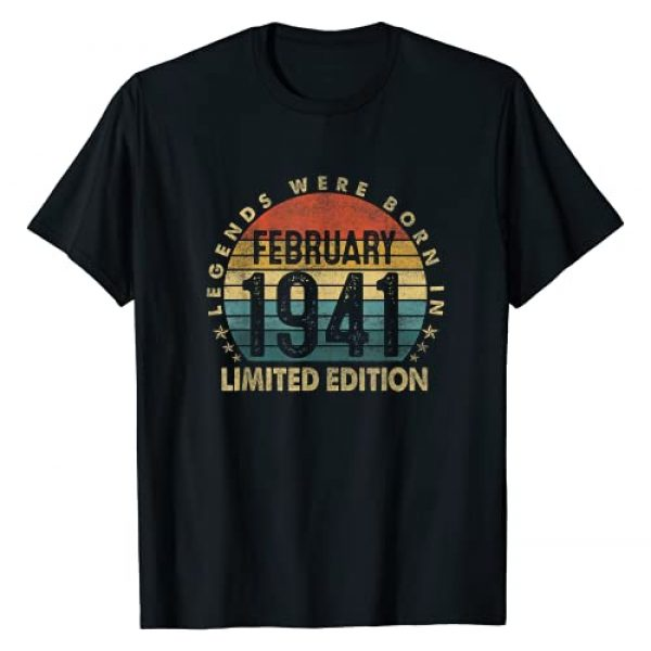 Vintage February 1941 - 80 Years Of Being Awesome Graphic Tshirt 1 Gift 80 Years Old Legends February 1941 80th Birthday Gift T-Shirt