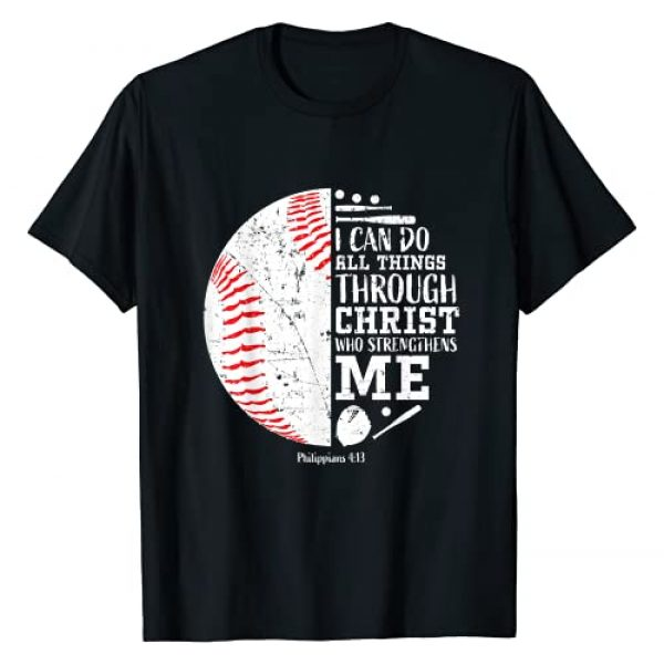 Christian Gifts by Alexis Mae Graphic Tshirt 1 Christian Baseball Shirts I Can Do All Things Through Christ T-Shirt