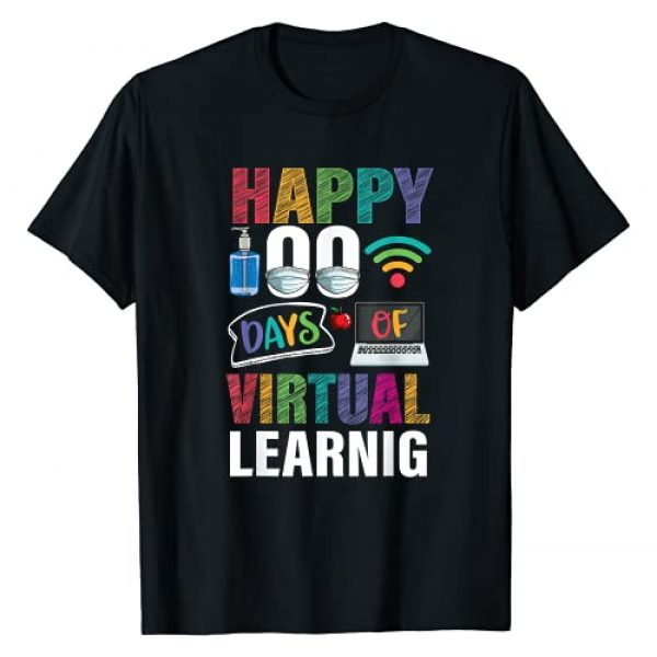TrendyPull Virtual Happy 100 days of school shirt Graphic Tshirt 1 Happy 100 days of virtual Learning Kids Teacher Student T-Shirt
