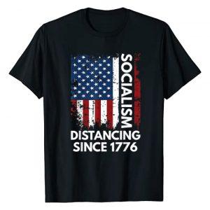 Socialism Distancing Funny Anti Socialism Graphic Tshirt 1 Socialism Distancing Since 1776 Funny Anti Socialism T-Shirt
